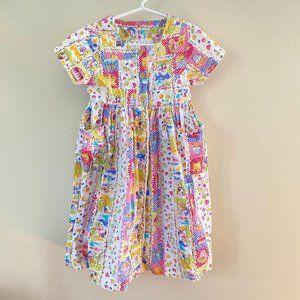 Vintage I.N.C. Girls Colorful Garden Dress 4T
